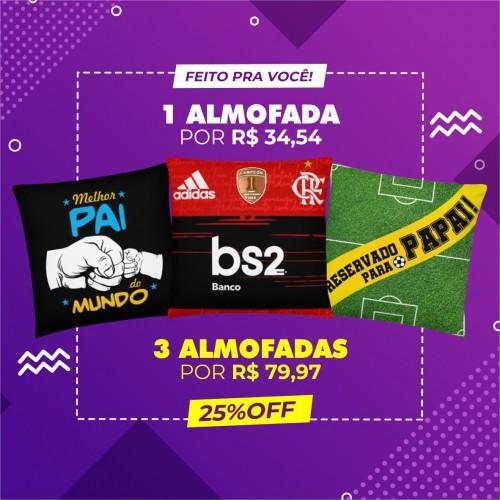 Kit 3 Almofadas Promo 3 (Personalize)
